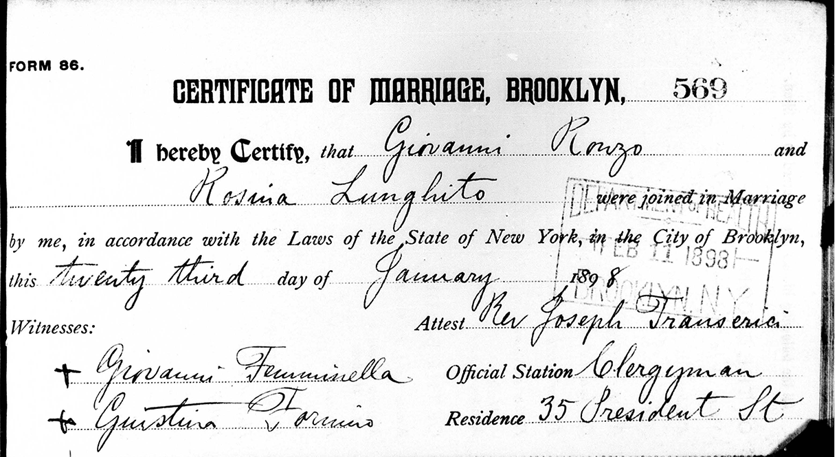 state of new york marriage records