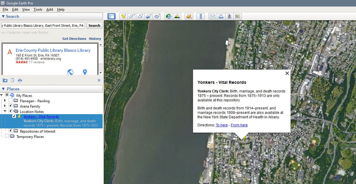 Ny State Map Google.Using Google Earth For Genealogy Putting Your Ancestors On The Map