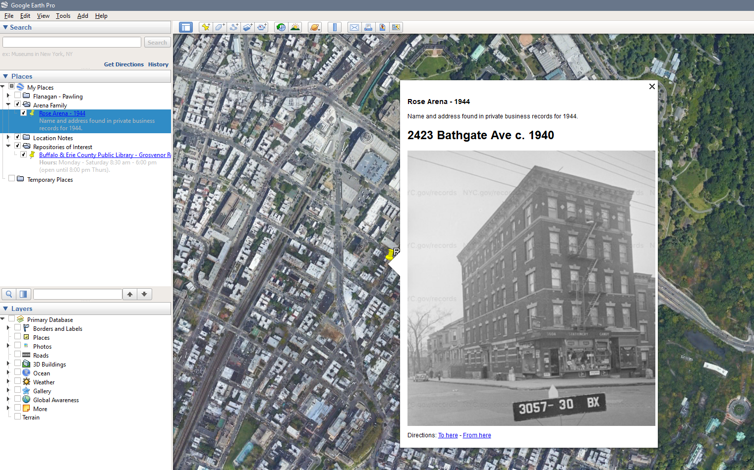 Google Earth for Genealogy, Part 1: Putting Your Ancestors on the