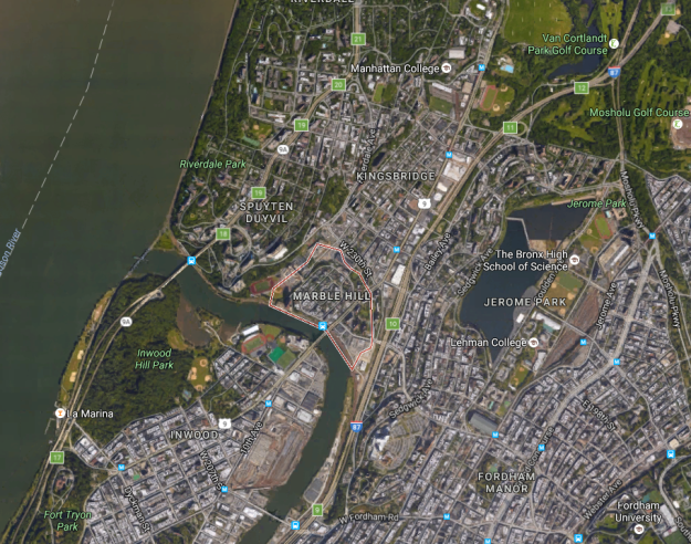 How Manhattan Island Banished Marble Hill To The Mainland But Not - Manhattan island map