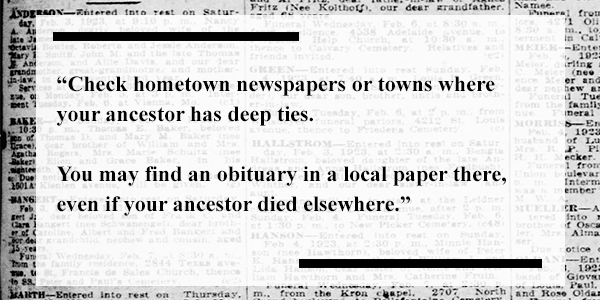Find your ancestor's obituary: The New York Times and other
