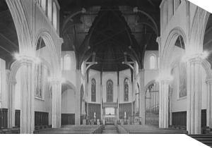 Interior of a Catholic church