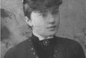 A photographic portrait of Mary McMahon (1870 - 1958), an Irish immigrant who worked as a domestic servant in New York