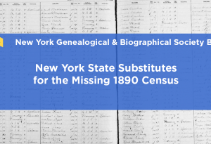 New York State substitutes for the missing 1890 census