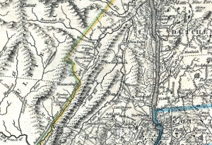 A historical map of Putnam and Dutchess Counties