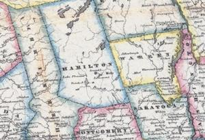 A portion of an 1900s map of New York State