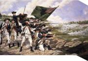A painting of the Battle of Long Island