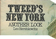 Cover of Tweed's New York: Another Look